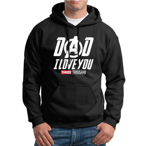 Dad I Love you Three Thousand Mens Hoodies-Gildan-Daataadirect.co.uk