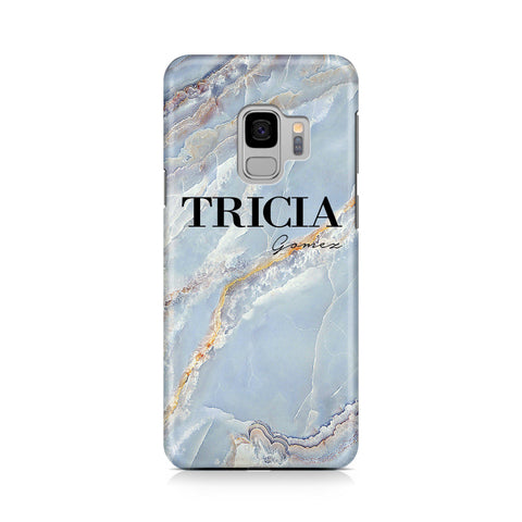 Personalised Ocean Marble Name Samsung Galaxy S9 Case