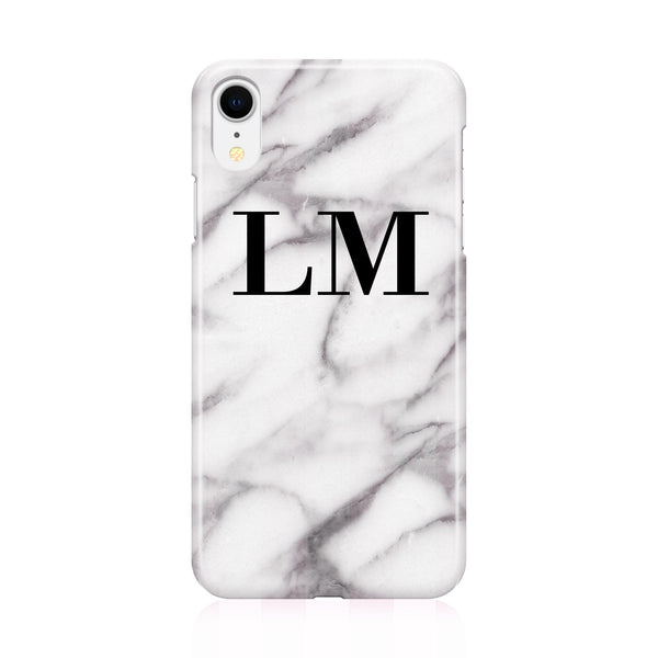 Personalised Pentelic Marble Initials iPhone XR Case
