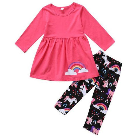 Rainbow Unicorn Clothing Set