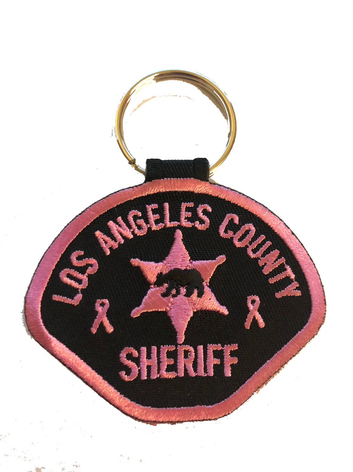 Los Angeles County Sheriff's Department Pink Patch Project Keychain #PinkPatchProject
