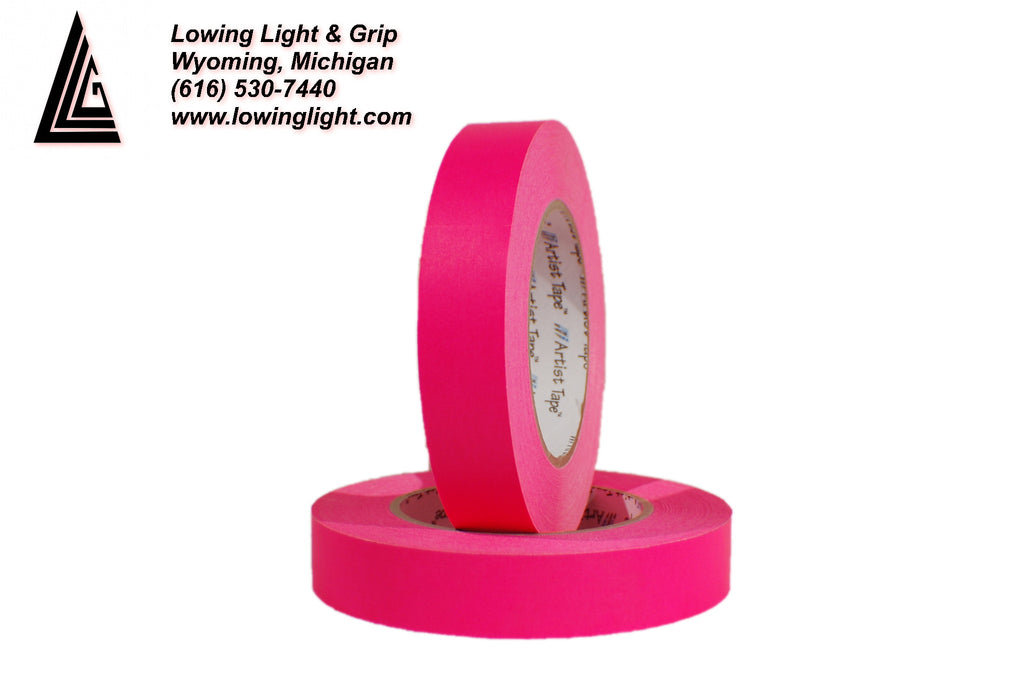 "Paper Tape 1/2"" Fluorescent Pink"