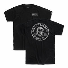Shut Up 2 and Race T-Shirt (Black)