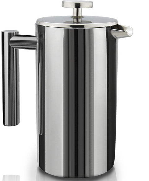 French Press, 8 cup,Doublewall Stainless Steel