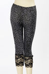 Leopard or Solid Black Capri Leggings with Skull & Bow - shopjessicalouise.com