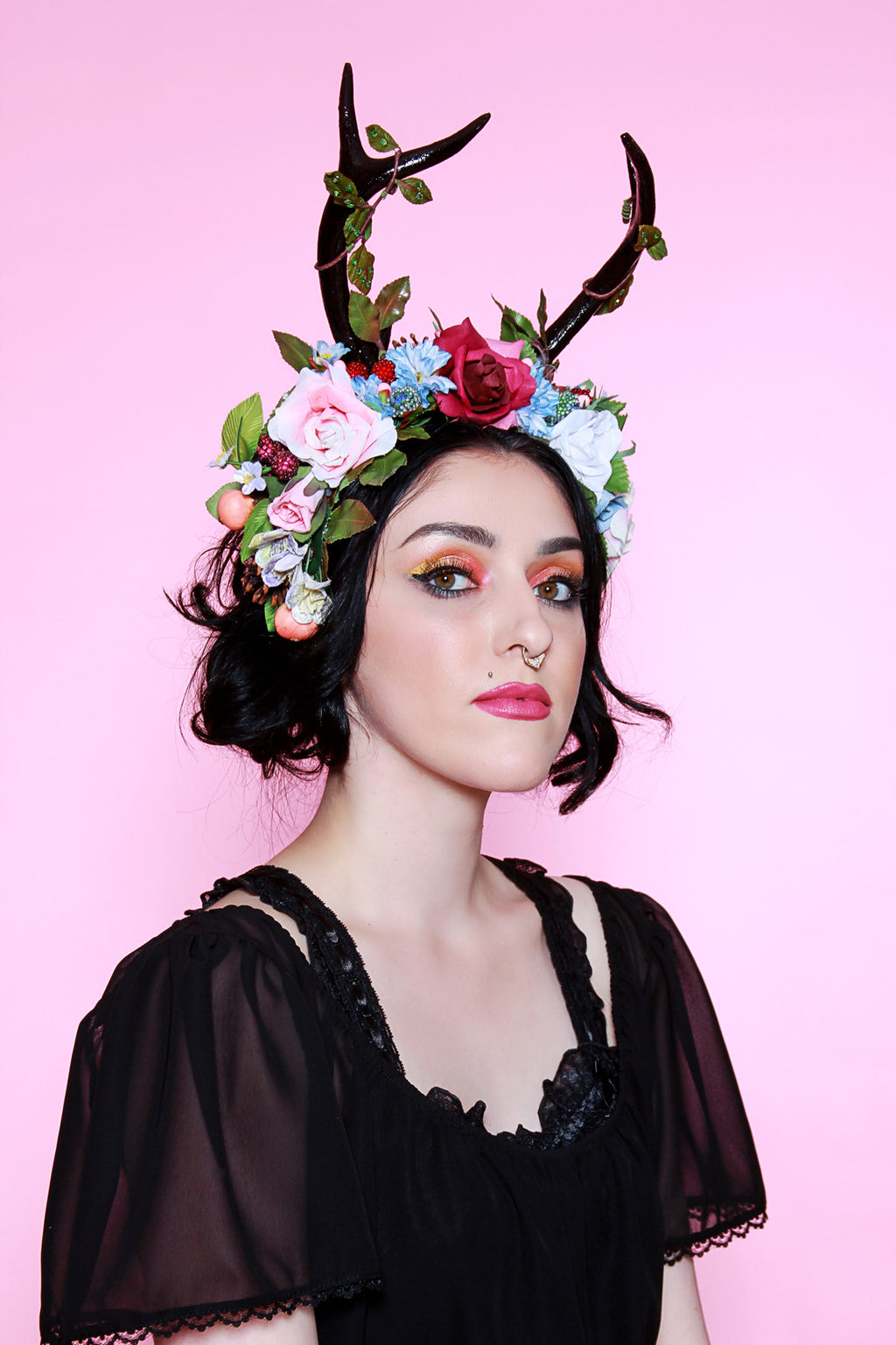 Field of Roses Antler Flower Crown - shopjessicalouise.com