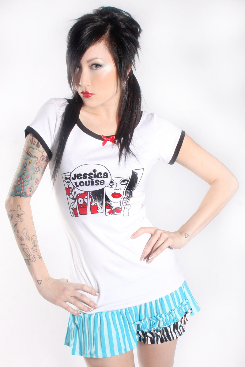 Jessica Louise Skate & Destroy Logo Tee - shopjessicalouise.com