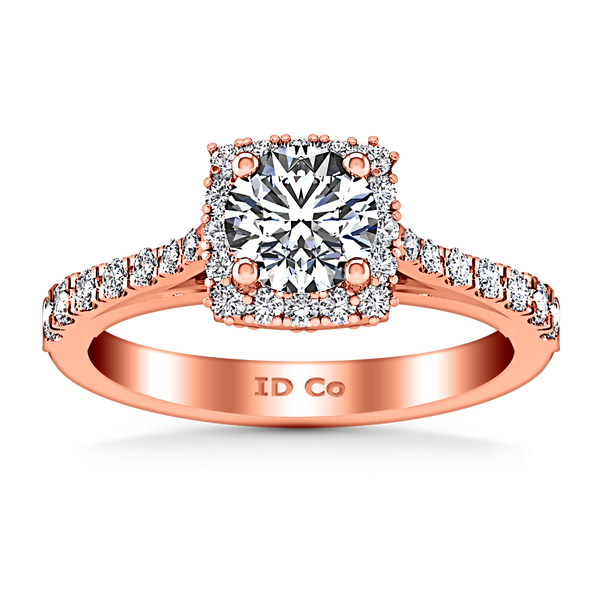 Halo Engagement Ring Mallory 14K Rose Gold