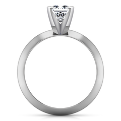 Solitaire Engagement Ring Knife Edge Princess Cut Diamond 14K White Gold