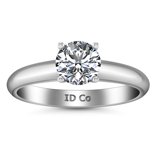 Solitaire Engagement Ring Carys 14K White Gold