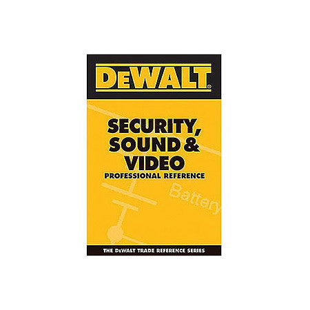 Dewalt Security Sound And Video Pro Reference Pocket Guide