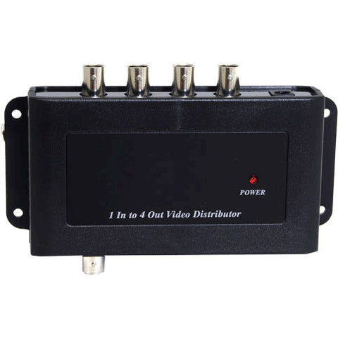 1x4 Composite Video Distribution Amplifier with BNC Connectors