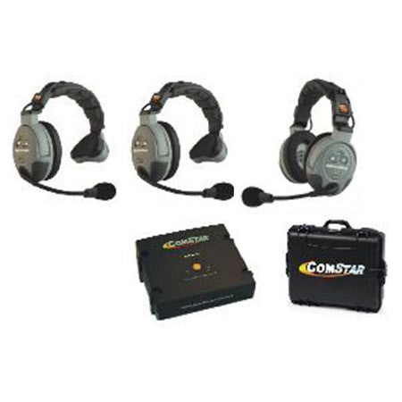 Eartec Comstar XT-3 Complete 3 Person System