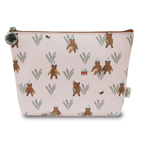 Indigo Willow V.4 Pouch Pink Bear