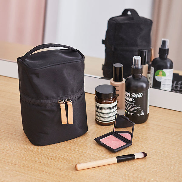 ITHINKSO Vertical Make Up Box Black/Pink