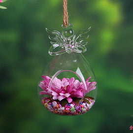 Angel Glass Hanging Terrarium Vase - TopTier Shop Unique Fun Trending Gifts Hot Items Shopping Home