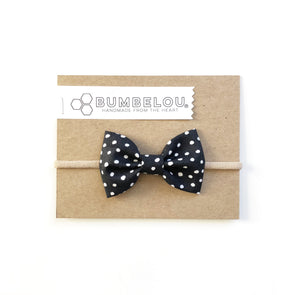 Classic Fabric Bow - Monarch Dot