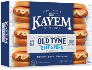 Kayem Old Tyme 20 Franks 2.5 lbs box