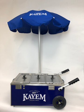 Kayem Electric Mini Tabletop Steamer Cart