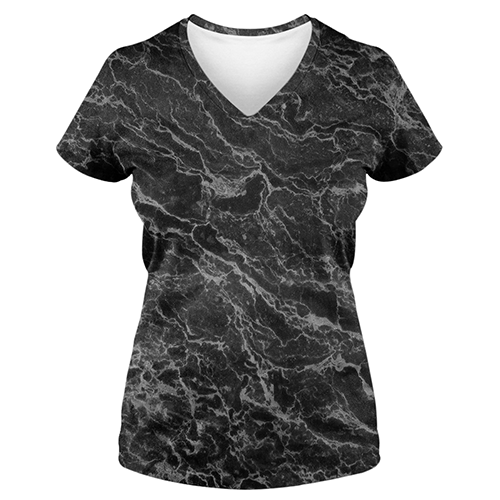 Sublimation Women's V-Neck - Marble Dark Grey Texture - Women's V-Neck