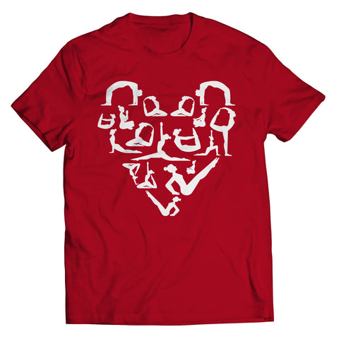 Image of Unisex Shirt - Limited Edition - Yoga Stretch Heart Shape Tee