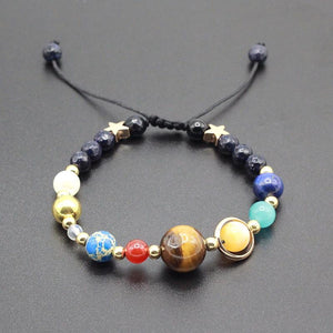 Universe Planet Guardian Star - Natural Stone Bead Bracelet - Universe Planet Guardian Star - Natural Stone Bead Space Bracelet
