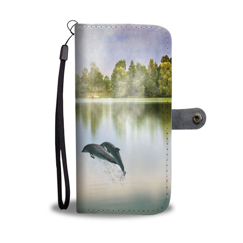 Image of Wallet Case - Serene Dolphins & Mermaid Wallet Phone Case