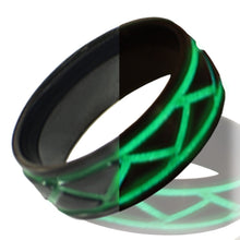 Glow in the dark titanium ring Glowing Rings Carbon 6 carbon fiber Wedding Ring for men women engagement green weave luminescent lume rings bands