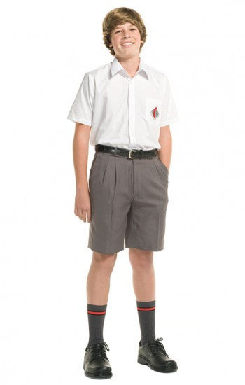 Grey <Br>Boys College Shorts - Grey College Shorts