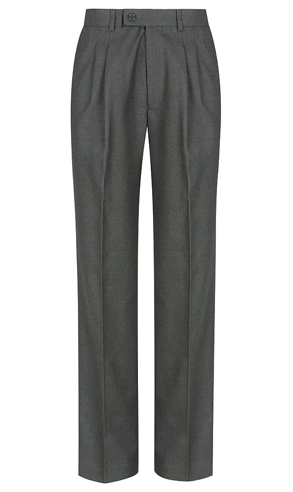 Dark Grey<Br>Boys Extendable Waist College Trouser - Grey College Trouser