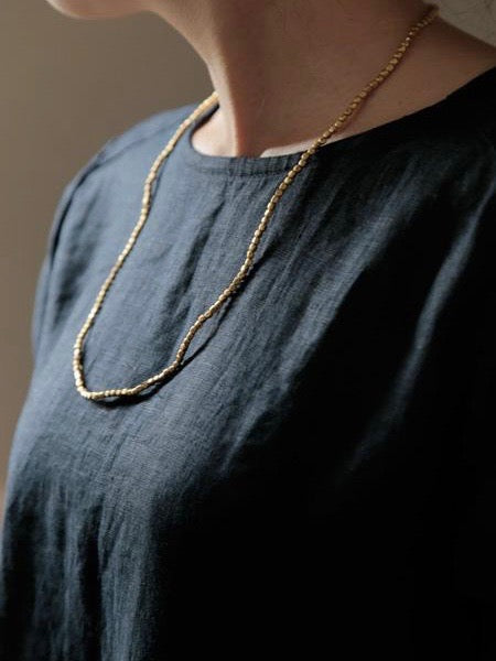 FOG LINEN | BRASS BEAD NECKLACE