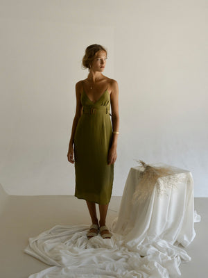 VÉRÉN DRESS | MARTINI OLIVE