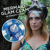 Mermaid Glam Clam - the Ultimate Mermaid Makeup Kit