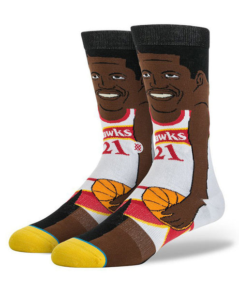 Stance - NBA Cartoon - Dominique Wilkins (Atlanta Hawks)