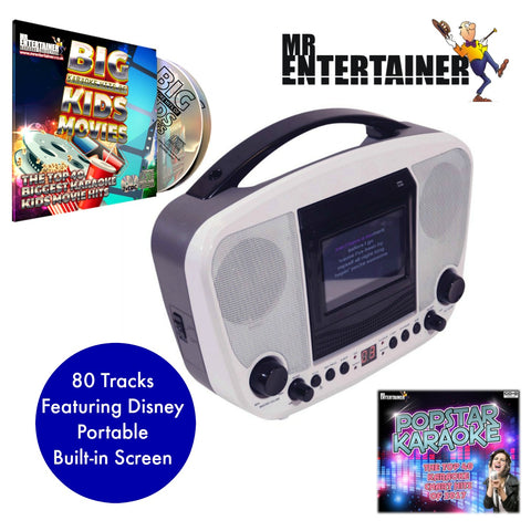 Mr Entertainer KAR122D Bluetooth Karaoke Machine BLACK