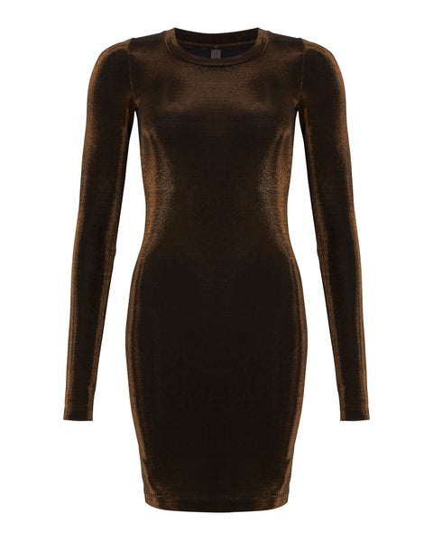 Amore T-shirt Dress Bronzo Nero