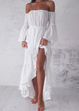 FLAMENCO MAXI DRESS - WHITE