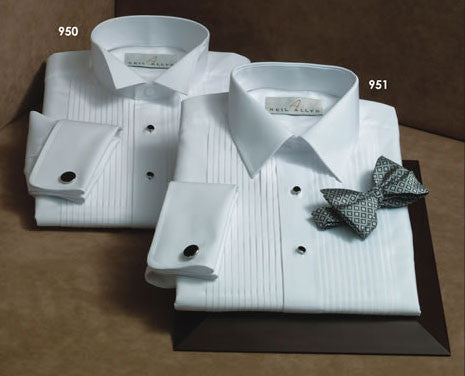 100% Cotton Wing Collar Tuxedo Shirt - French Cuffs