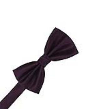 Raisin Herringbone Formal Bow Tie