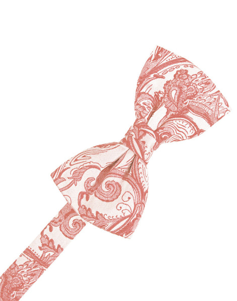 Coral Tapestry Formal Bow Tie