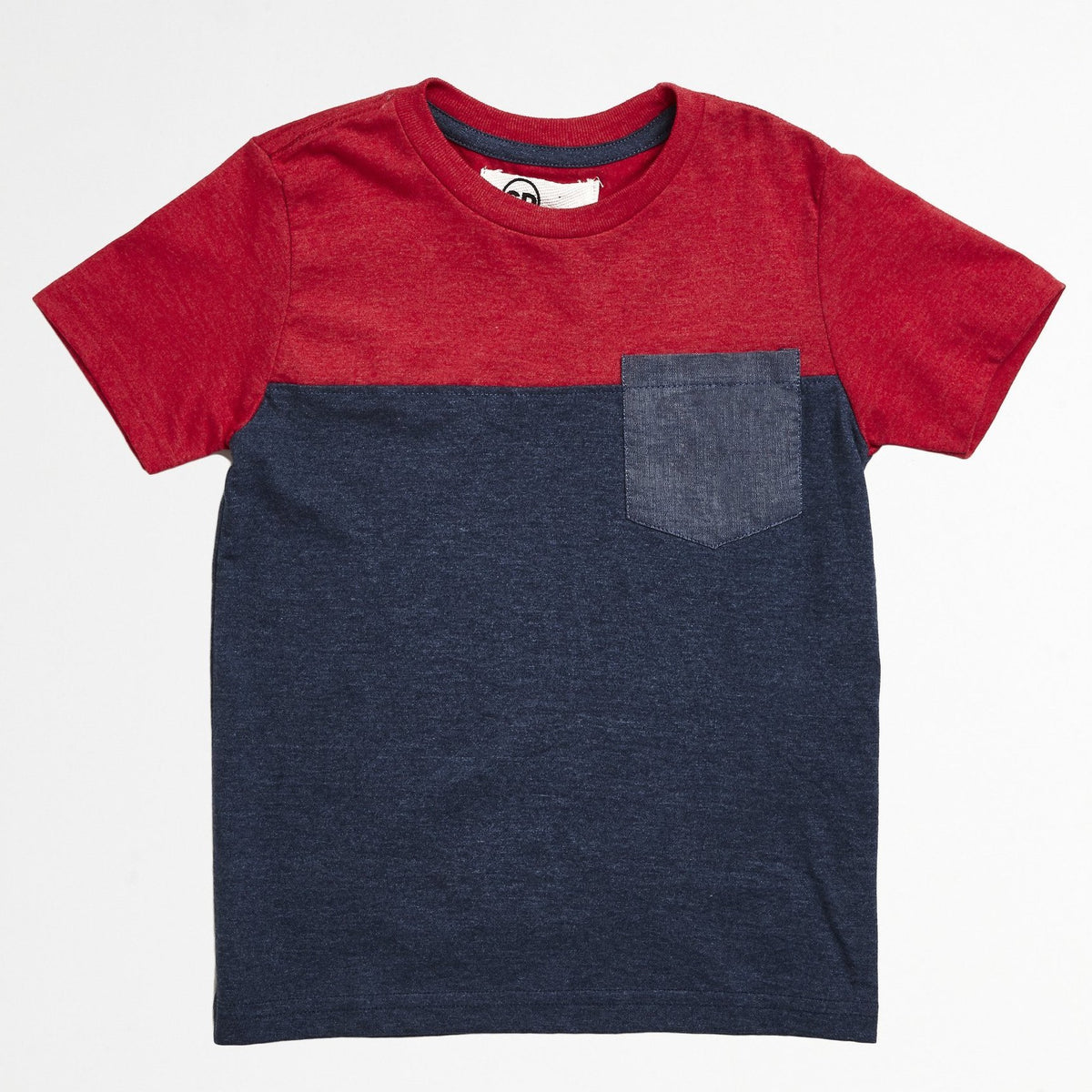 Red Chambray Pocket Tee