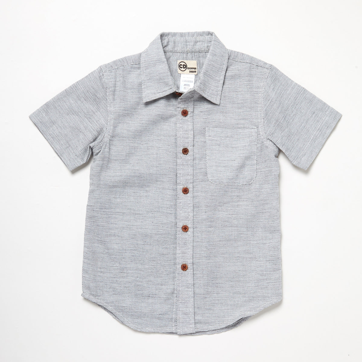 Short Sleeve Button Down With Wooden Buttons