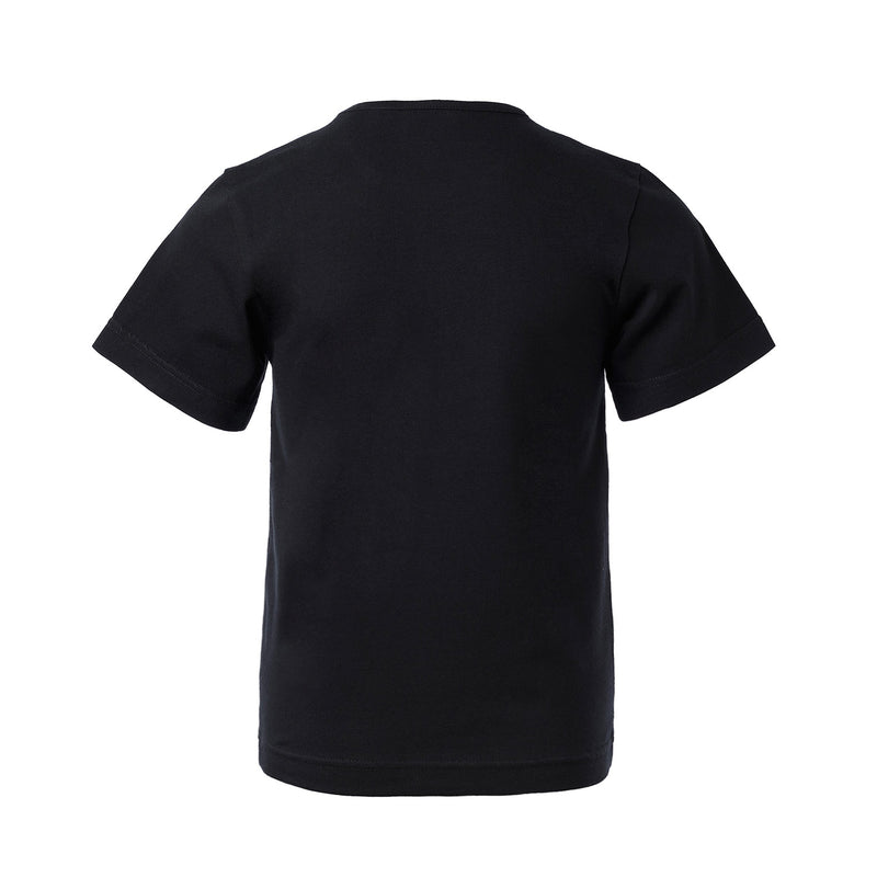 Short Sleeve Black T-Shirt with Toscana Print