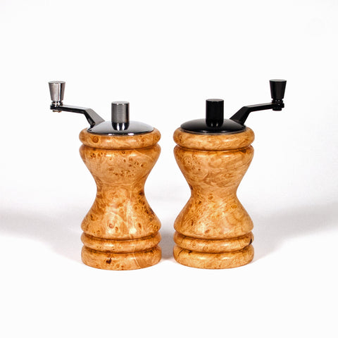 Set of Ferris mini-grinders made in Maple Burl - Dailey Woodworking