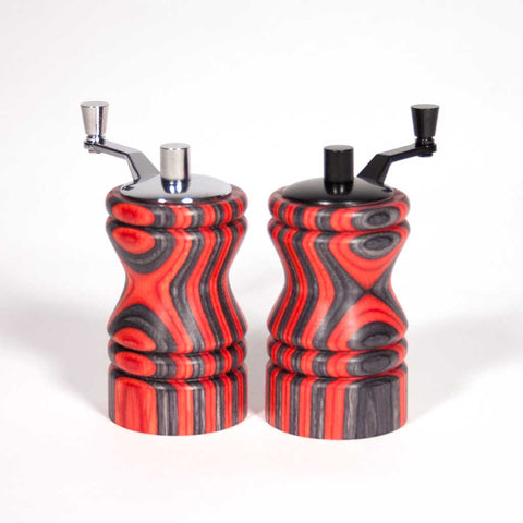 Set of red and black Ferris mini-grinders - Dailey Woodworking