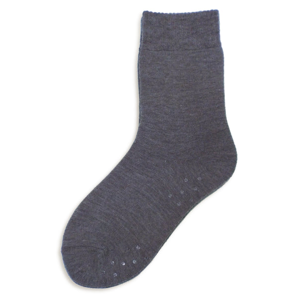 Thermal Slipper Crew with Grips | Classic | Charcoal Grey - CHERRYSTONE
