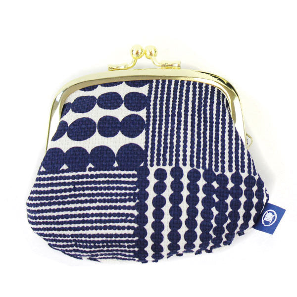 Ball Clasp Coin Purse | Traditional Japanese Beads | Navy - CHERRYSTONE