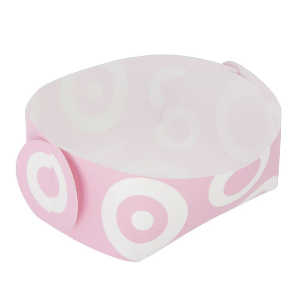 Reusable Foldable Snack Tray (2PK) | Small | Pink Circle Pattern - CHERRYSTONE