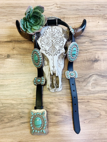The Stockyard Turquoise Concho Belt