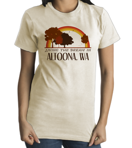 Standard Natural Living the Dream in Altoona, WA | Retro Unisex  T-shirt